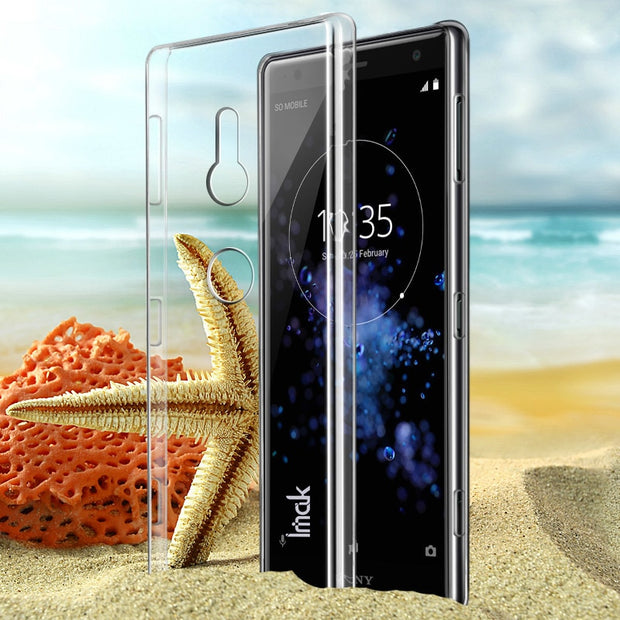 IMAK Clear Crystal Wear Resistance Hard Plastic Back Cover Case For Sony Xperia XZ2 Transparent Case Xperia XZ2 Clear Case