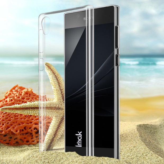 IMAK For Sony Xperia L1 Clear Crystal Wear Resistance Hard Plastic Back Cover Case For Sony Xperia L1 Transparent Case