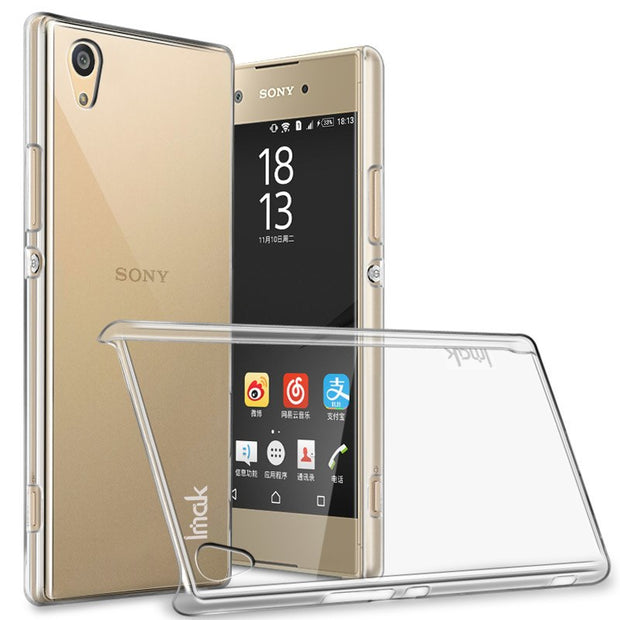IMAK For Sony Xperia XA1 Clear Crystal Wear Resistance Hard Plastic Back Cover Case For Sony Xperia XA1 Transparent Case