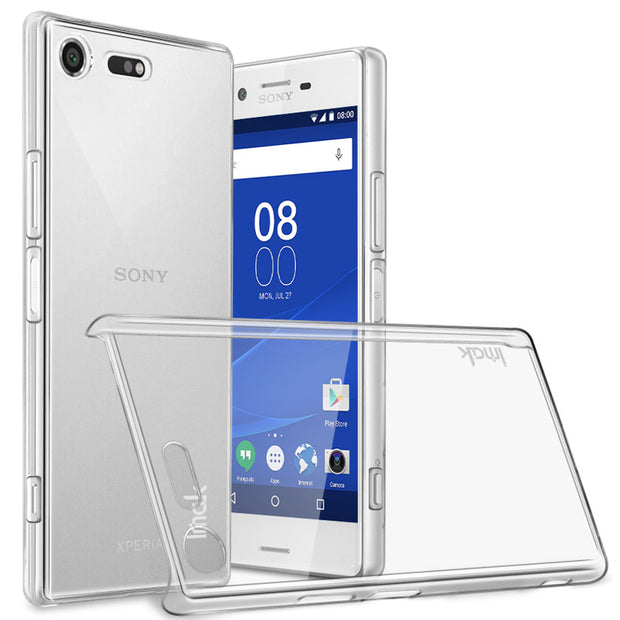 IMAK For Sony Xperia XZ Premium Clear Crystal Wear Resistance Hard PC Back Cover For Sony Xperia XZ Premium Transparent Case