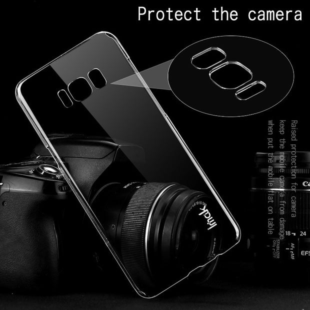 IMAK For Samsung Galaxy S8 S8+ Clear Crystal Wear Resistance Hard PC Back Cover For Samsung Galaxy S8 S8+ Transparent Case
