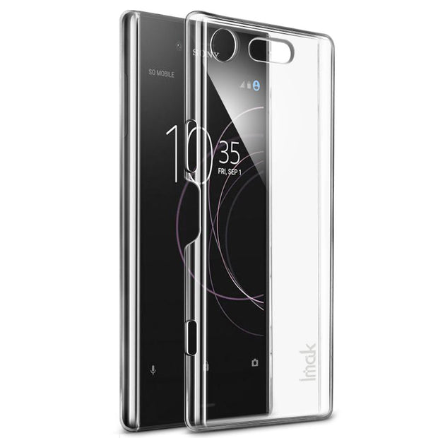 IMAK For Sony Xperia XZ1 Compact Clear Crystal Wear Resistance Hard PC Back Cover For Sony Xperia XZ1 Compact Transparent Case