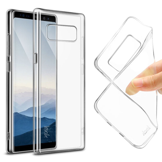 Imak Clear For Samsung Galaxy Note8 Case Transparent Soft Gel TPU Silicone Case For Samsung Galaxy Note 8 Soft Cover Case