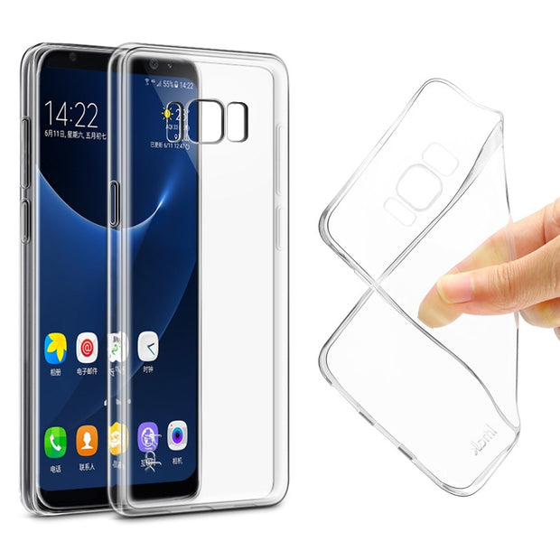 Imak Clear For Samsung Galaxy S8+ Case Transparent Soft Gel TPU Silicone Case For Samsung Galaxy S8 S8+ Soft Cover Case