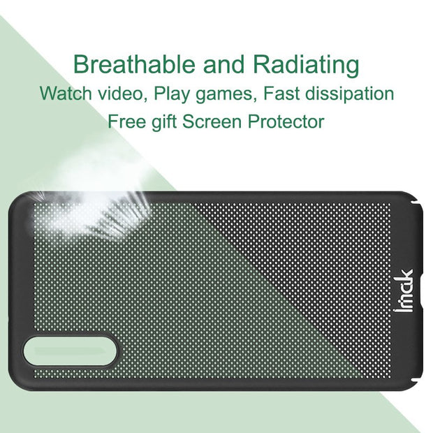 Imak Jazz Mesh Hard PC Heat Dissipation Cover For Huawei P20 Breathable Phone Case For Huawei P20 Case Protection Capa