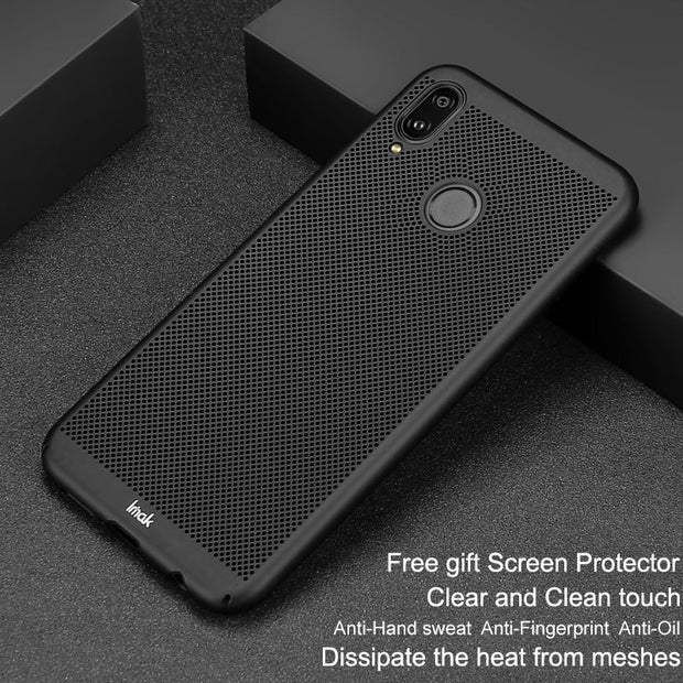 Imak Jazz Mesh Hard PC Heat Dissipation Cover For Huawei P20 Lite Breathable Phone Case For Huawei P20 Lite Case Protection Capa