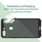 Imak Jazz Mesh Hard PC Heat Dissipation Cover For OPPO R15 Dream Version Breathable Phone Case For OPPO R15 Dream Case