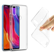 Imak Ultra Slim For Xiaomi 8SE Transparent Soft Gel TPU Silicone Case For Xiaomi 8SE Soft Cover + Screen Protector Film