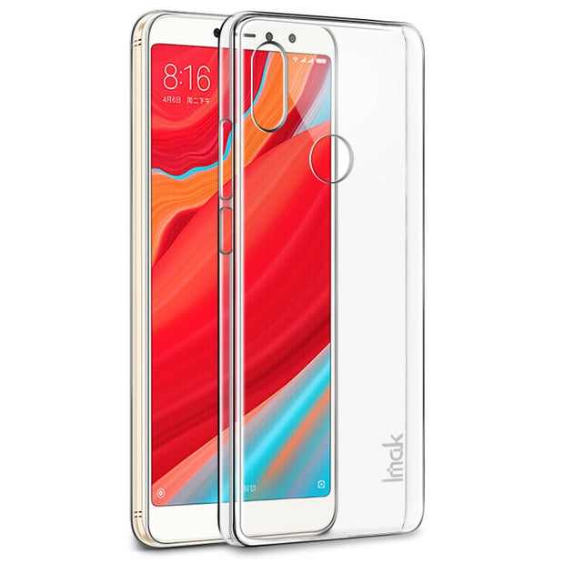 Imak For Redmi S2 /Y2 Transparent Crystal Case PC Clear Wearproof Hard Case Back Cover For Xiaomi Redmi S2 Case +Screen Film