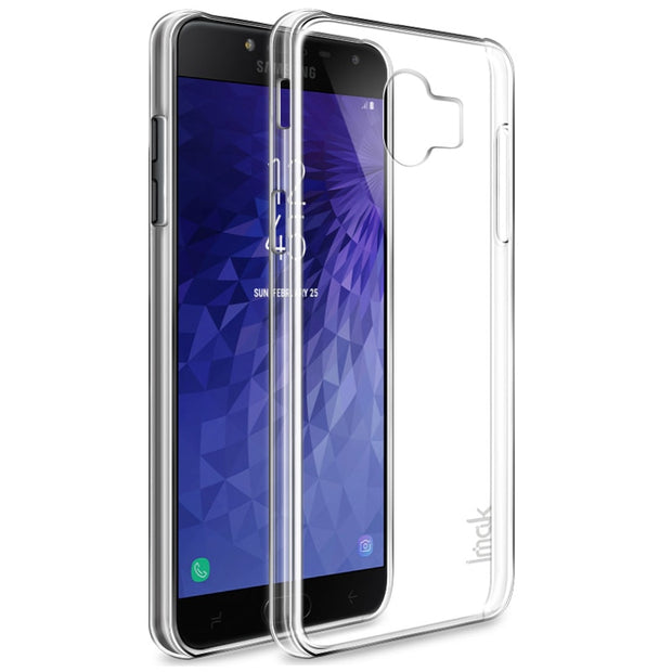 Imak For Samsung Galaxy J400F Transparent Crystal PC Clear Wearproof Hard Case Back Cover For Samsung J400G Case +Screen Film