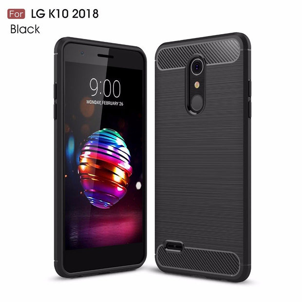 KOLPLER Soft Case Capa For LG K10 2018 Case Cover Luxury Silicon TPU Armor Shockproof Case For LG K 10 2018 Protective Bag Case