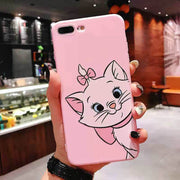 Kerzzil Cute Cartoon Marie Cat Phone Case For IPhone X XR XS MAX Soft TPU Back Cover For IPhone 6 6S 7 8 Plus Silicone Cases