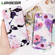 LOVECOM Oil Painting Vintage Flower Phone Case For IPhone XS Max XR 6 6S 7 8 Plus X Soft IMD Floral Phone Back Cover Cases Gifts