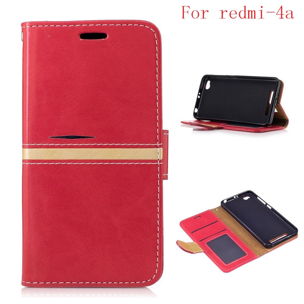 "Latest Fashion Flip Wallet Phone Case For Xiaomi Redmi 4a 5.0"" With Card Holder Back Cover For Xiaomi Redmi 4a 5.0"" Fundas"