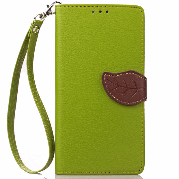 Leaf Wallet Case For Huawei Y600 U20 U40 Flip Case Phone Leather Cover For Huawei Y 600 Y600-U20 Y600-U40 Y600-U151 Y600-U351