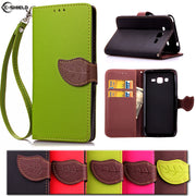 Leaf Wallet Case For Samsung Galaxy Grand Prime G531 G531H G531H/DS Flip Case Phone Leather Cover SM-G531H/DS SM-G531F SM-G531H