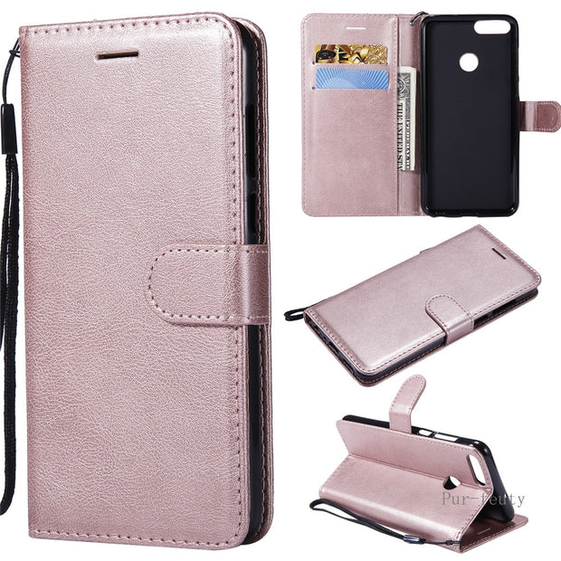 Leather Case For Fundas Huawei P Smart FIG-LX1 FIG-LA1 Case For ...