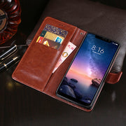 Leather Case For Xiaomi Redmi Note 6 Pro Case Flip Wallet Case For Xiaomi Redmi Note 6 Pro Global Version Cover With Case Slot