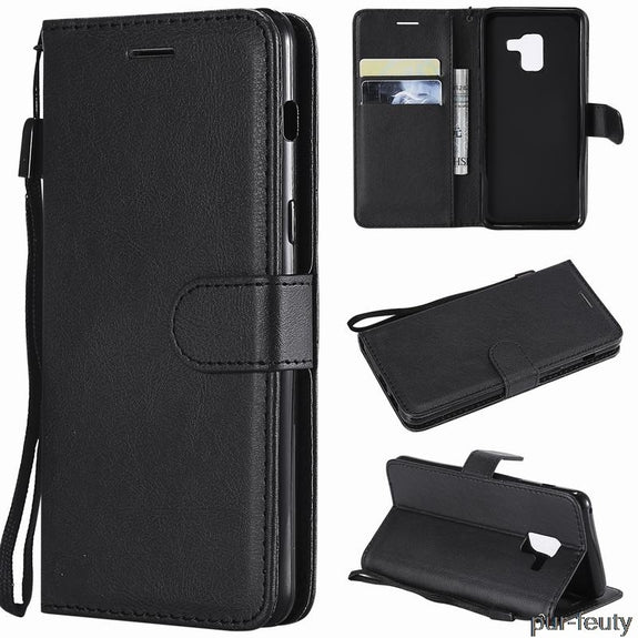 3f834f72f91 Leather Flip Case Cover For Samsung Galaxy J6 2018 J600F SM-j600F DS W