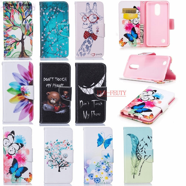Leather Flip Case For LG K7 2017 X230 X 230 Case Flip Phone Cover For LG K 7 LGK7 2017 LGX230 LG-x230 Phone Bags Silicone Case