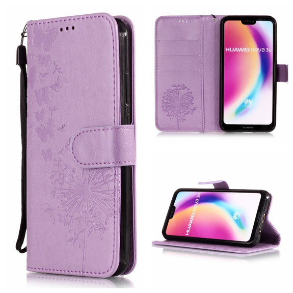 d0a2c5272d9552 Leather Flip Phone Case For Huawei P20 Lite Wallet Flip Cover For Huaw