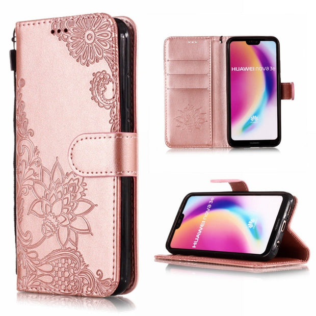 Leather Flip Case For Huawei P20 Lite Case Huawei P20 Phone Case For Huawei P20 Pro Flip Cases Cover Wallet Card Holder Book