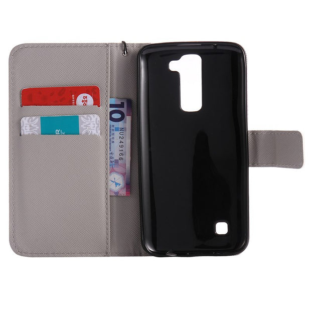 Leather Wallet Clip For LG K7 K 7 X 210 X210 DS X210ds Case Phone Cases For Coque LG K8 K7 Cases Flip Cover Mobile Hoesjes Etui