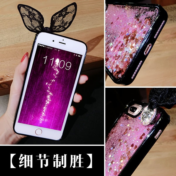 Love Heart Glitter Stars Dynamic Liquid Quicksand TPU Phone Back Cover Case For Huawei P10 Lite P10 P10 Plus Case &Stand DIYABEI