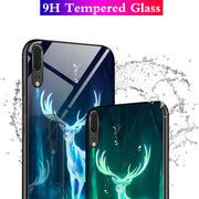 Luminous Phone Case For Huawei Mate 10 Pro P20 Pro P10 Plus Tempered Glass Cover Cases For Huawei P20 Lite P10 Mate10 Coque Capa