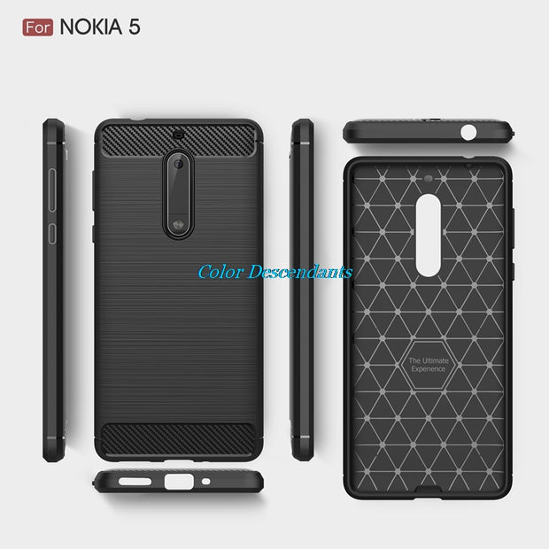 Luxury Armor Phone Case For Nokia 2 3 5 6 7 8 9 Silicone Shell Cover For Nokia 5 Case For Nokia 6 Case For Nokia 3 Case Cover