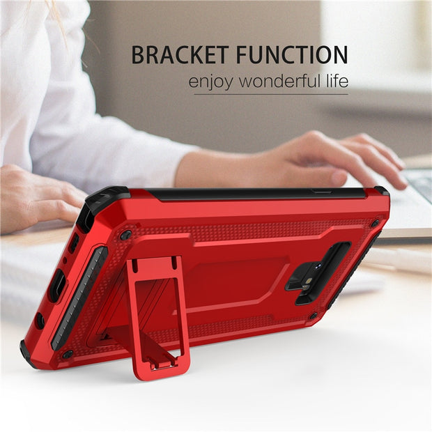 Luxury Car Holder Case For Samsung Galaxy Note 9 Magnetic Bracket Ring Cover 360 Protective Stand Phone Carcasas For Galaxynot9