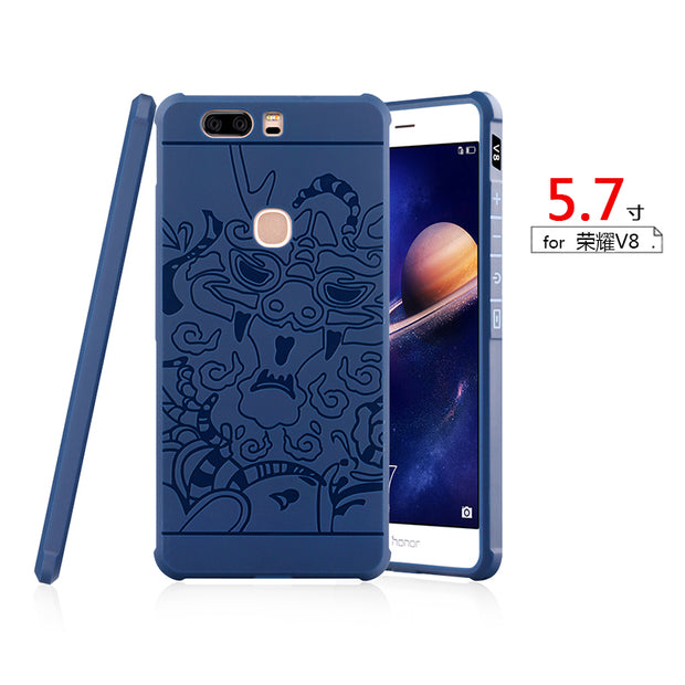 Luxury Dragon Phone Case For Huawei Honor 8 V8 Note 8 8 Lite Honor V9 High Quality Soft Silicone Protective Back Cover