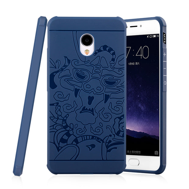 Luxury Dragon Phone Case For Meizu MX5 MX6 Pro6 Pro 6 6S Pro6s Plus High Quality Soft Silicone Protective Back Cover