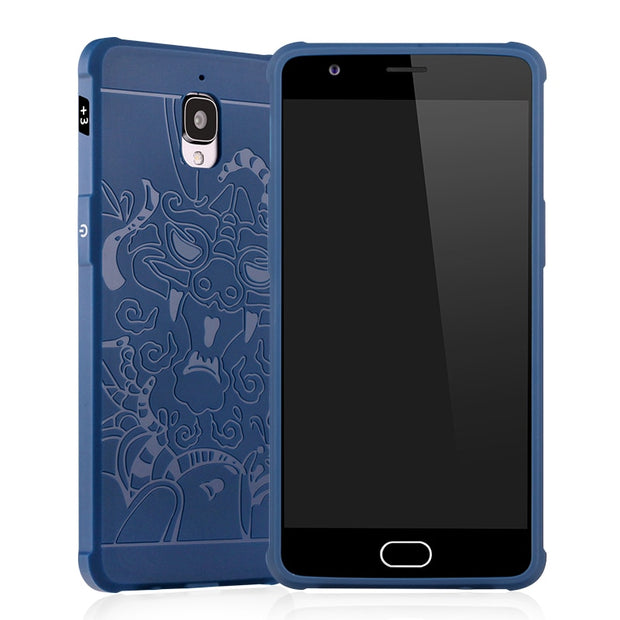 Luxury Dragon Phone Case For Oneplus One Plus Three 3 High Quality Soft Silicone Protective Back Cover