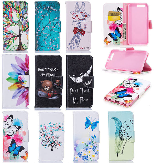 "Luxury Flip Leather Case For Huawei P10 Plus Case 5.5"" Stand Wallet Card Holder Cover For Fundas Huawei P10plus P10 Plus Cover"