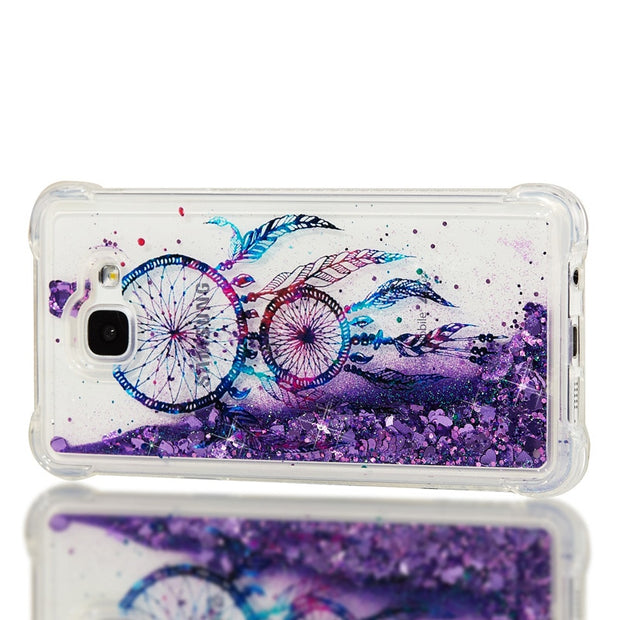 Luxury Glitter Liquid Sand Quicksand Soft TPU Silicone Phone Cover Shell For Samsung Galaxy A3 A5 2016 A7 2017 A8 Plus 2018 Case
