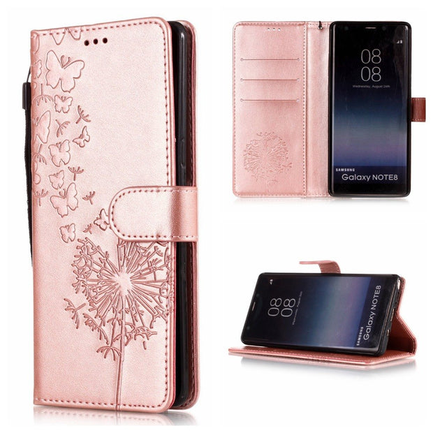 new concept ade12 fce79 Luxury Leather Phone Cases For Samsung Galaxy Note 8 Flip Cover For Samsung  Note 9 Original Magnetic Wallet Stand Case