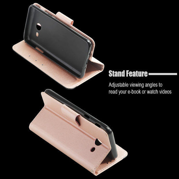 Luxury Leather Wallet Card Holder Flip Stand Phone Case Cover For Samsung Galaxy A3 2017 &A7 2017& A5 2017 US Version Phone Bag
