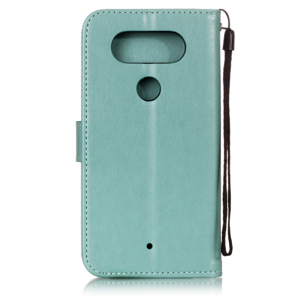 Luxury Leather Wallet Flip Case For LG Q6 Q7 Q8 Silicone Phone Case Back Cover With Card Slots