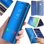 Luxury Mirror Smart Phone Case For Xiaomi Pocophone F1 Mix2 MAX3 Mi8 5X 6X A1 A2 For Redmi 6 6A 6 Pro 5 4X Note 3 4 5 4X 5A 5pro