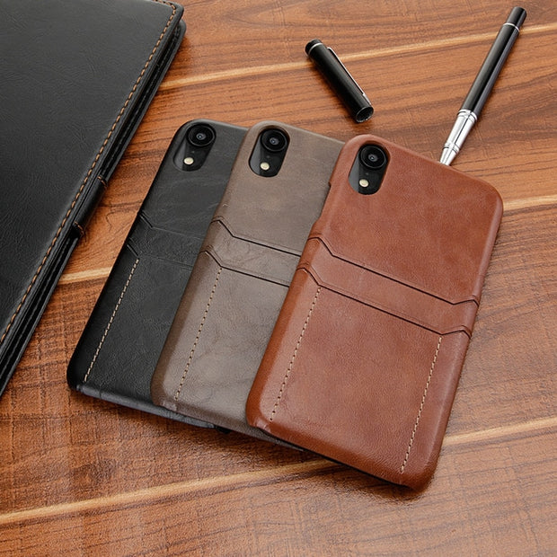 Luxury PU Leather For IPhone XS MAX XR Iphone 6 6s Plus Case Back Cover Card Holder Phone Case For IPhone 8 7 Plus Case Iphone 7