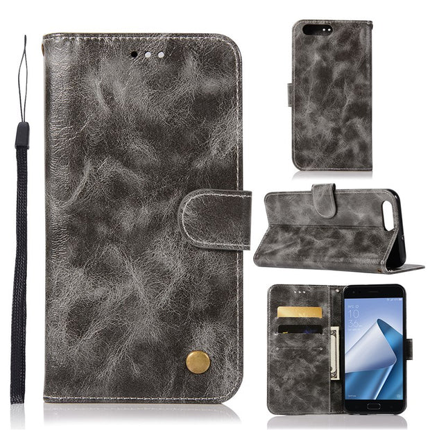the latest 64dd6 8399a Luxury Vintage Case For Asus Zenfone 4 ZE554KL Pu Leather+TPU Wallet Flip  Cover For Asus Zenfone 4 ZE554KL Case Phone Capa