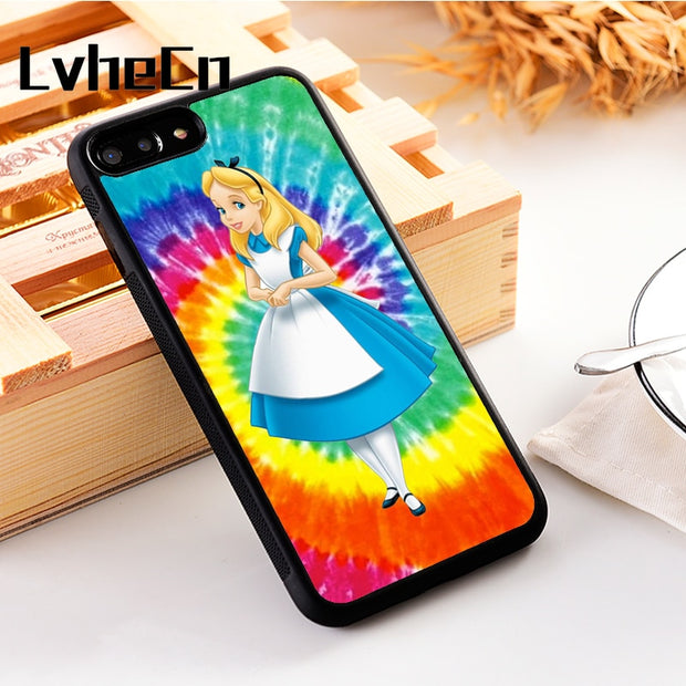 LvheCn 5 5S SE Phone Cover Cases For Iphone 6 6S 7 8 Plus X Xs Max XR Soft Silicon TPU TRIPPY ALICE IN WODNERLAND