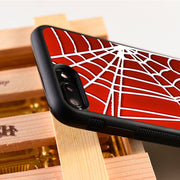LvheCn 5 5S SE Phone Cover Cases For Iphone 6 6S 7 8 Plus X Xs Max XR Soft Silicon TPU WEB SPIDERMAN
