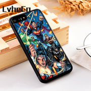 LvheCn 5 5S SE Phone Cover Cases For Iphone 6 6S 7 8 Plus X Xs Max XR Soft Silicon TPU Justice League DC Comic Superhero