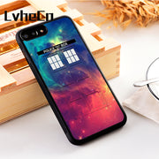 LvheCn 5 5S SE Phone Cover Cases For Iphone 6 6S 7 8 Plus X Xs Max XR Soft Silicon TPU TARDIS GALAXYS DOCTOR WHO