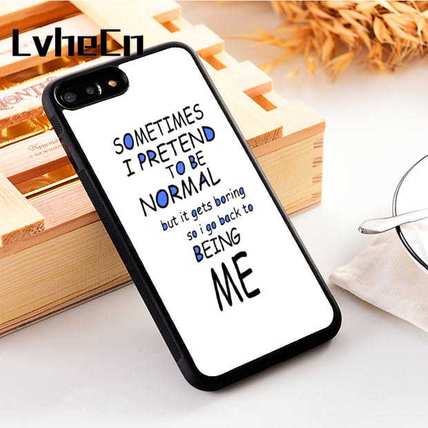 LvheCn 5 5S SE Phone Cover Cases For Iphone 6 6S 7 8 Plus X Xs Max XR Soft Silicon TPU FUNNY NORMAL ME QUOTE