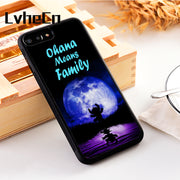 LvheCn 5 5S SE Phone Cover Cases For Iphone 6 6S 7 8 Plus X Xs Max XR Soft Silicon TPU OHANA LILO & STITCH MOON