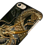 LvheCn 5 5S SE Phone Cover Cases For Iphone 6 6S 7 8 Plus X Back Skin Shell Gold Dragon