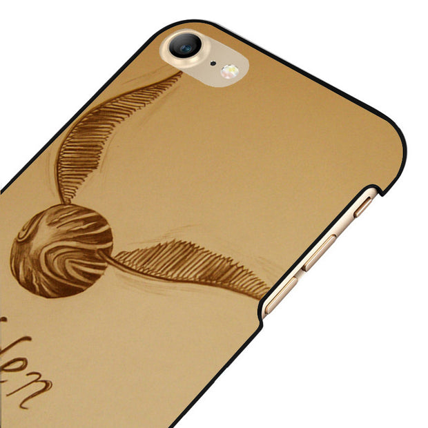 LvheCn 5 5S SE Phone Cover Cases For Iphone 6 6S 7 8 Plus X Back Skin Shell GOLDEN SNITCH HARRY POTTER